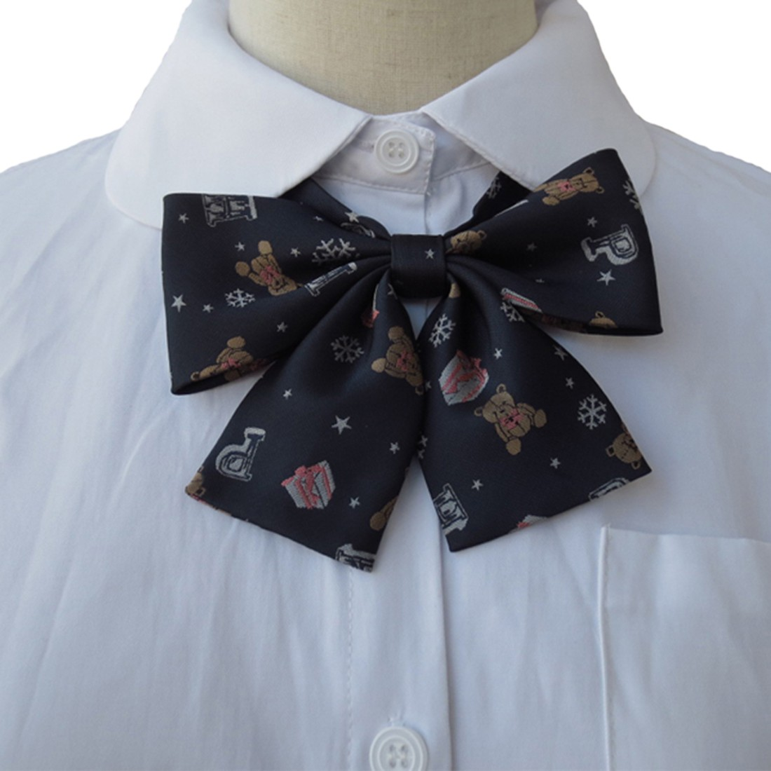Students School Lovely Bow Tie Bear Printed Jk Japanese Butterfly Knot Neckties