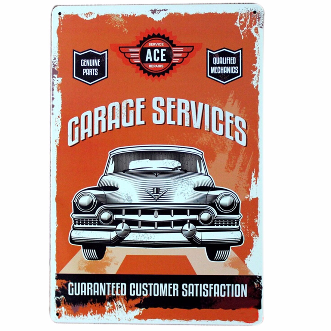 chic home bar vintage car metal sign plaque pub wall tavern garage