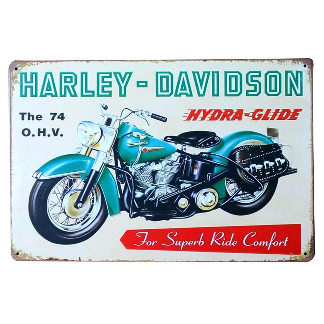 Motorcycle Bar Pub Retro Plaque Sheet Iron Metal Tin Wall Decorative Sign Poster