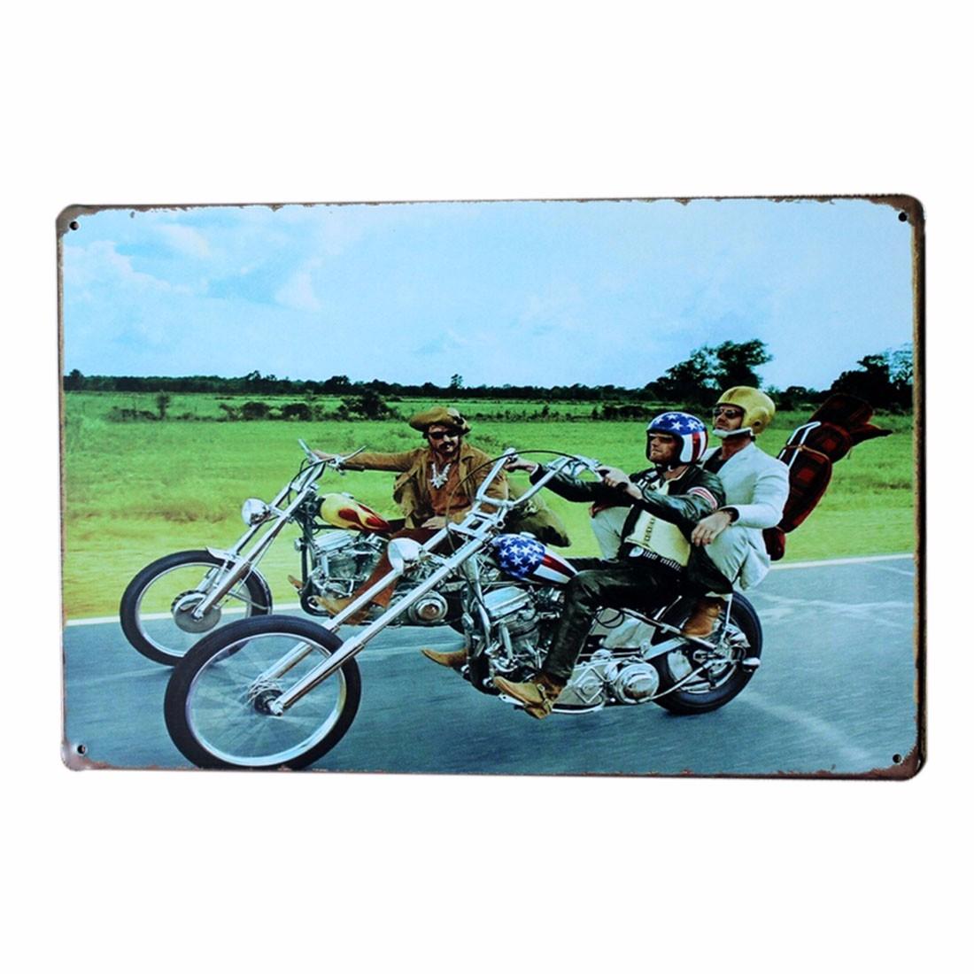 Vintage Motorcycle Metal Tin Signs Home Pub Bar Wall Decor