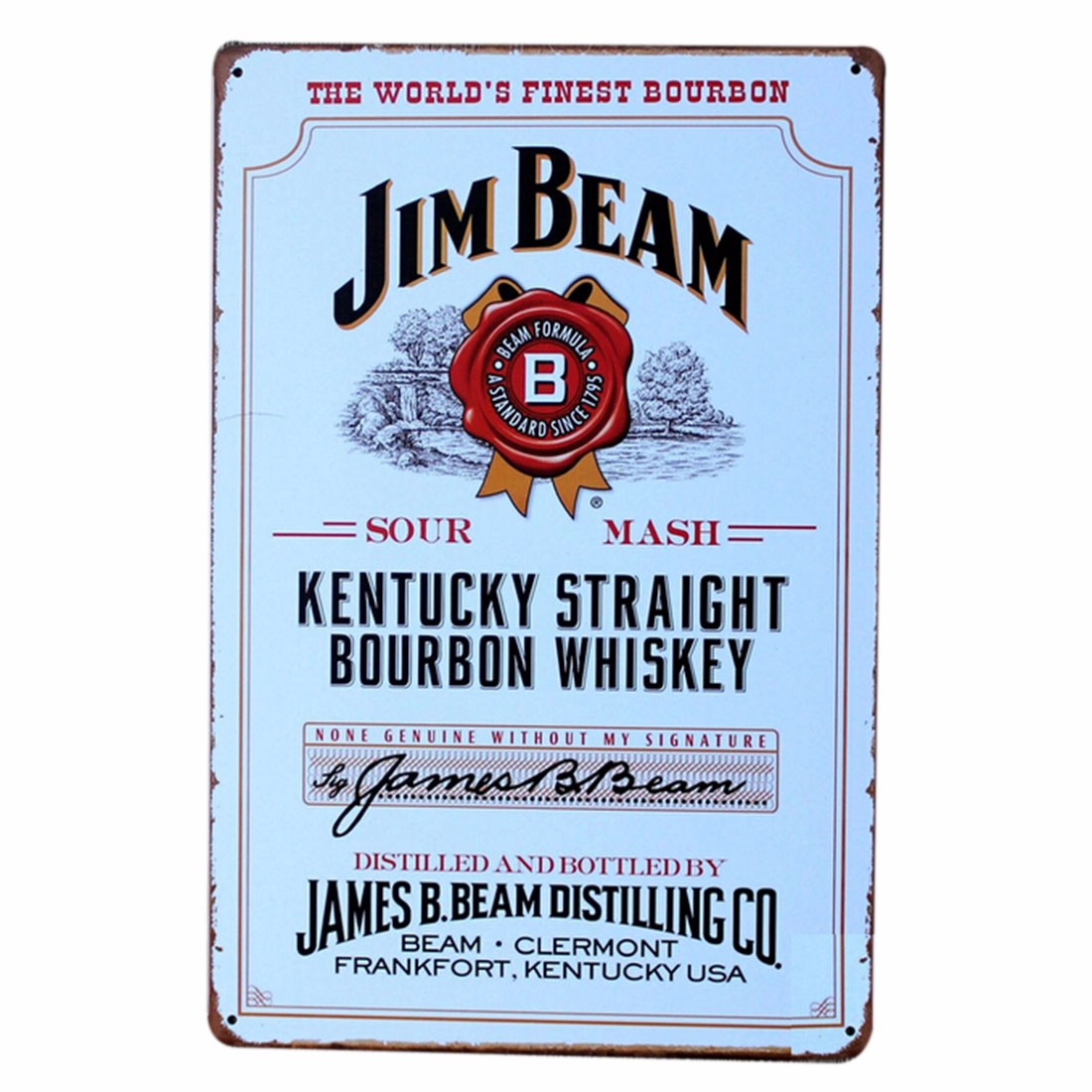 Popcorn Jim Beam Whisky Beer Bar Pub Retro Metal Plaque Wall Decor ...