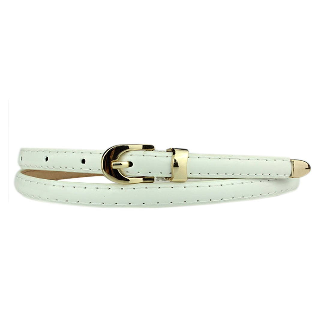 Women Fashion Candy Color Pu Leather Skinny Pin Buckle Waist Belt Waistband