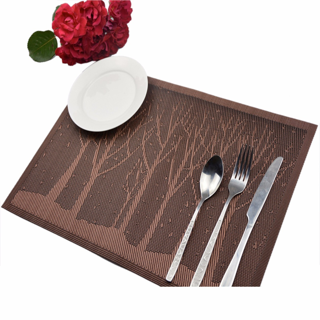 Boutique Western Thicken PVC Insulation Dining Table mats Placemats Cup Pad