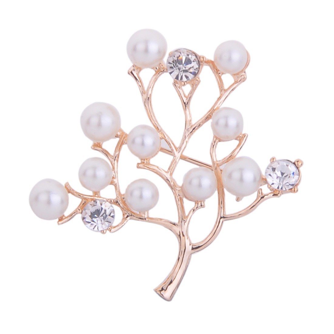 Big tree rich pearl white fruits harvest meaning Christmas pin brooch bouquet
