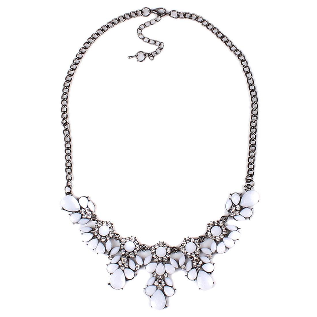 Women's Spring/Summer Fashion Acrylic Flower Bloom Bib Statement Necklace New
