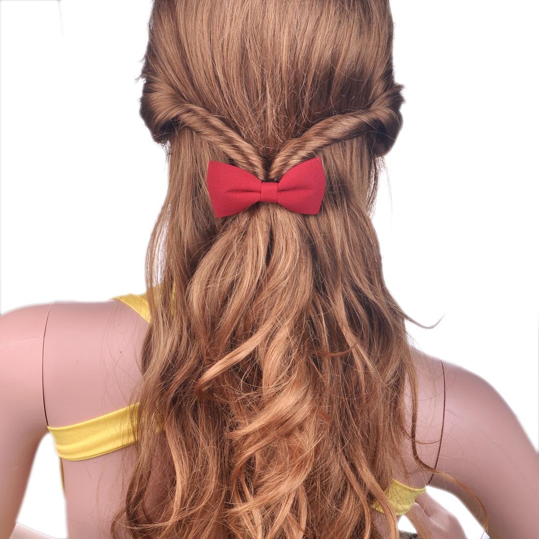 Girl's Bow Bowknot Ponytail Holder For Thin Hair Clip Barrette For Women