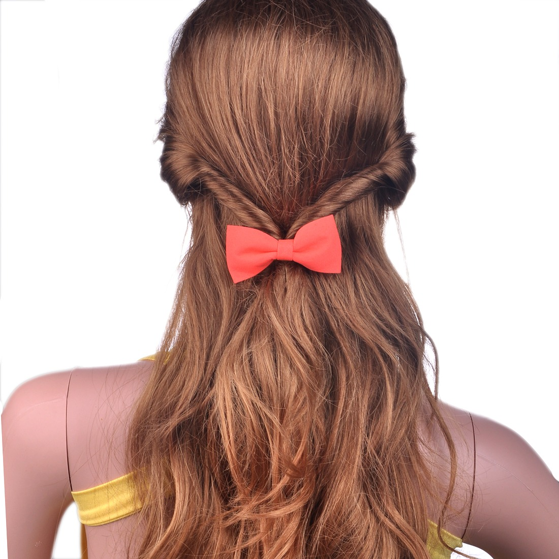 Girl's Bow Bowknot Ponytail Holder For Thin Hair Clip Barrette For Women