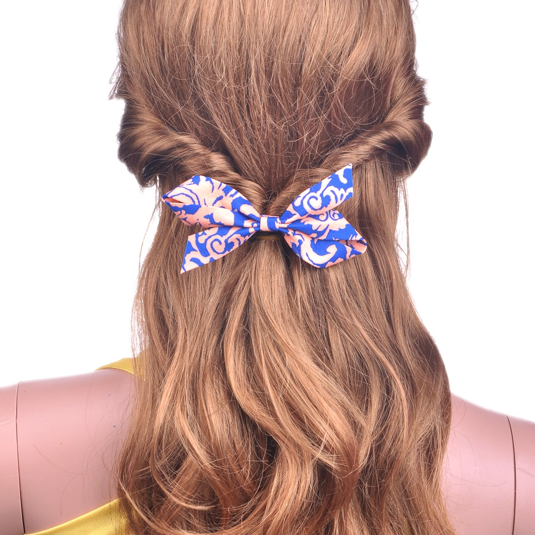 Women's Floral Bow Bowknot Ponytail Holder For Thin Hair Clip Barrette For Girls