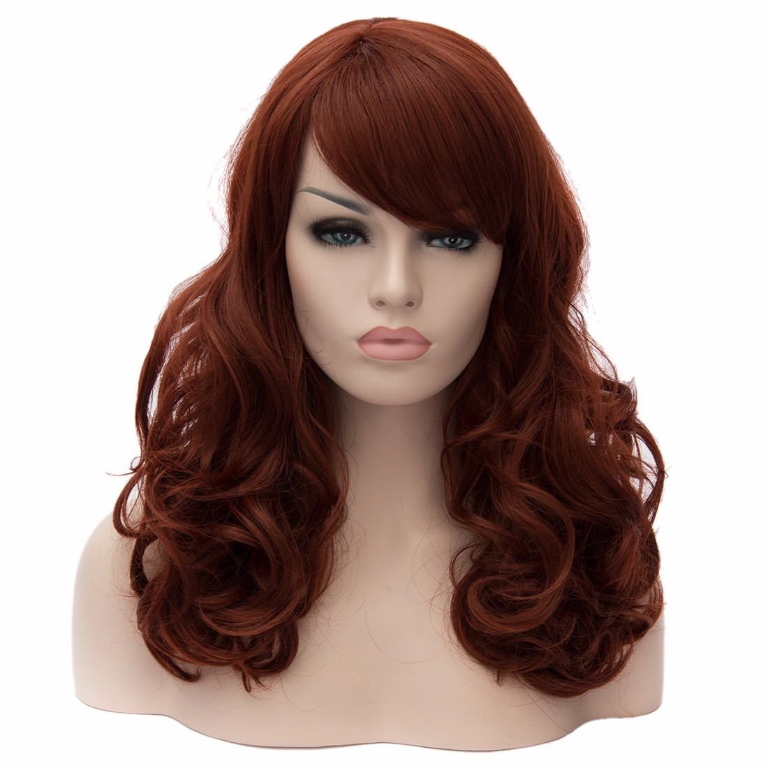 45Cm Rinka Hairdo Women Medium Curly Wave Cosplay Party Full Hair Bangs Wigs