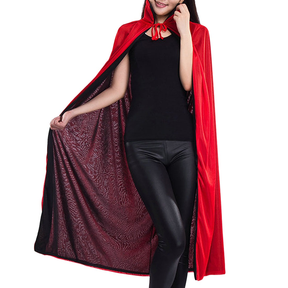 Black / Red Halloween Magician Vampire Dracula Cloak Fancy Dress Costume Cape