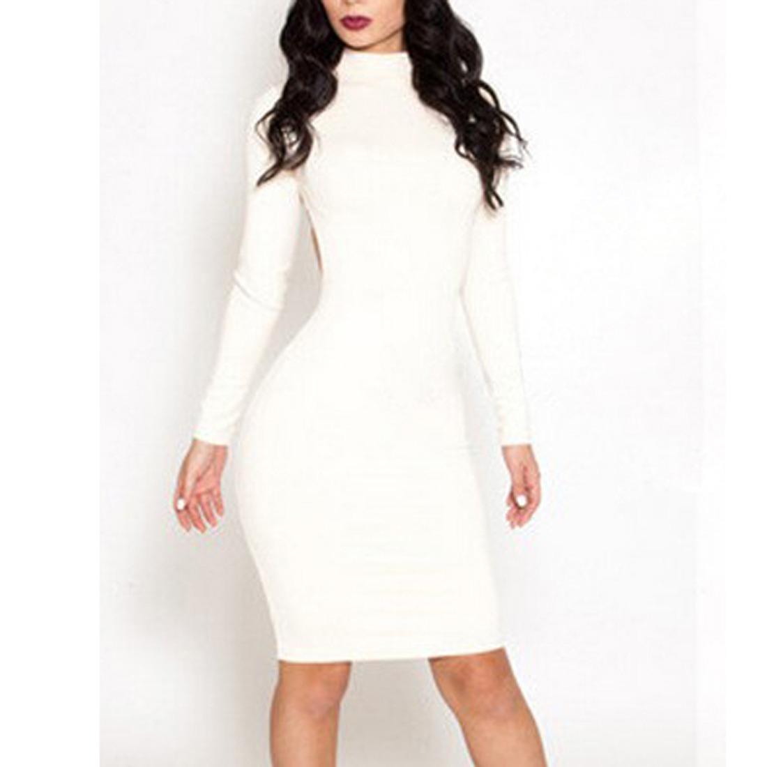 Белые Трикотажные Платья