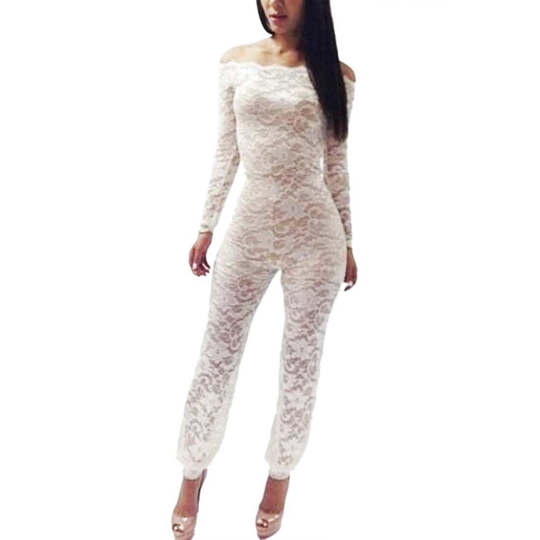 Simple Women39s White Jumpsuit Remaline Spiaggia