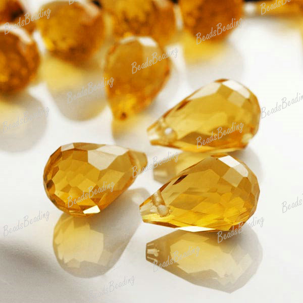 10pcs-Fashion-Teardrop-Faceted-Glass-Crystal-Beads-12x8mm-Colorful-Loose-Choose