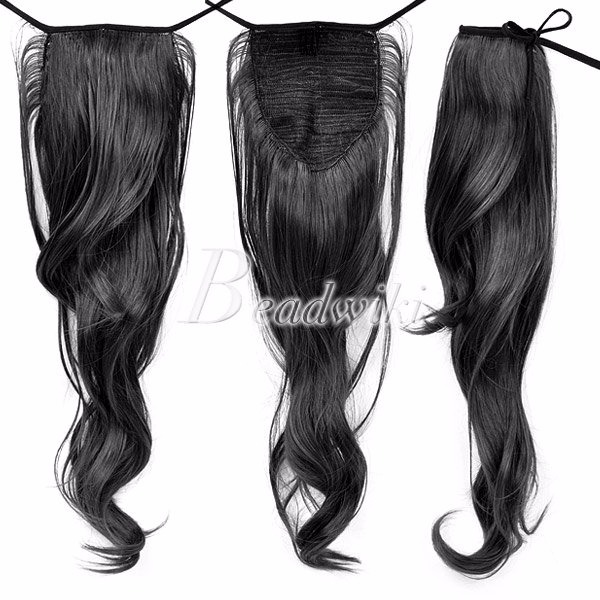 Hot Women Long Straight Curly Wavy Ponytail Pony Wigs Hair Hairpiece Extension