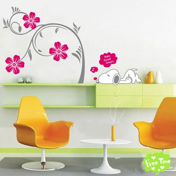 Scenery-Tree-Bird-Flower-Removable-Vinyl-Decal-Wall-Stickers-Art-Home-Decor