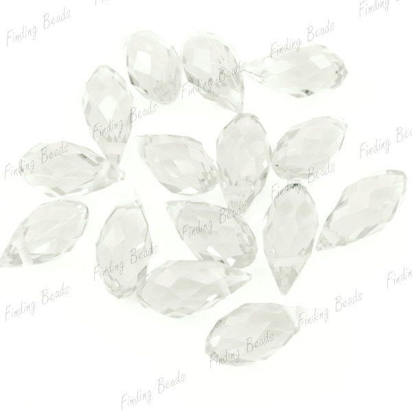 10pcs-Assorted-Fashion-Crystal-Rhinestone-Teardrop-Pendant-Beads-12x6mm-New