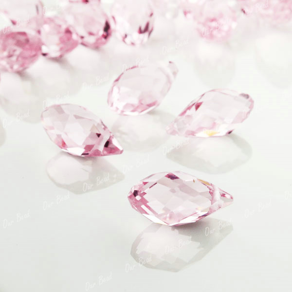 Faceted-Swarovski-Crystal-Beads-Charms-Drops-Free-Ship
