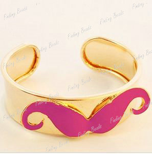 Vintage-Fashion-Handlebar-Mustache-Moustache-Open-Bracelet-Bangle-Wholesale-FJ4