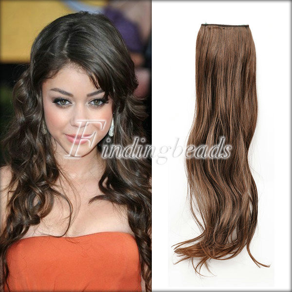 Lady Girl Straight Curly Wavy Clip In Hair Extension  With 5/2 Clips 4 Color Hot