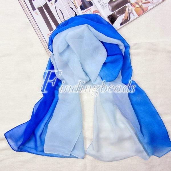 Style Chiffon Women's 160x50cm Shawl Scarf Soft RainbowStole Long Wholesale