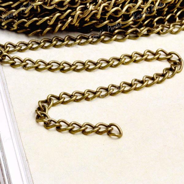 400cm Glieder Ketten Gliderketten Schmuckketten Halskette Großhandel V-CH0112