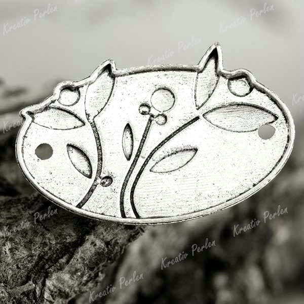 10-Tibet-Silber-Blumen-Verbinder-Charms-Perlen-TS4228