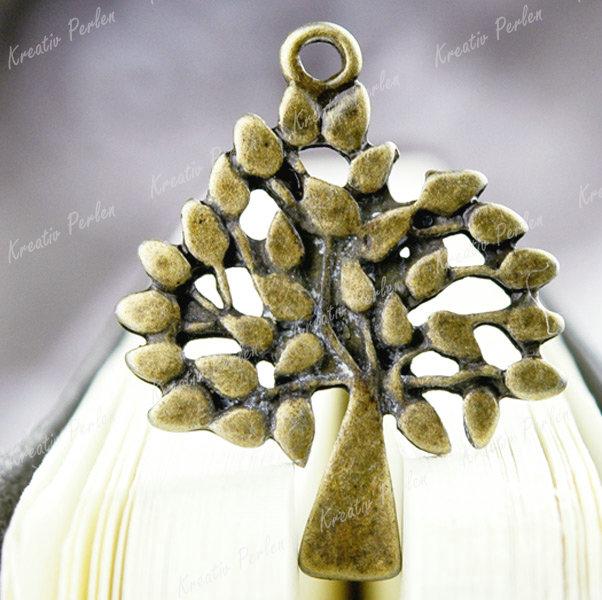 Mengenrabatt-Grosshandel-Antik-Bronze-Baum-Anhaenger-Charms-29mmx23mm-Schmuckteile