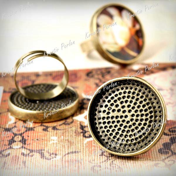 Mengenrabatt-Groshandel-Antik-Bronze-Ringe-Fassungen-Perlen-Schmuckteile-Charms