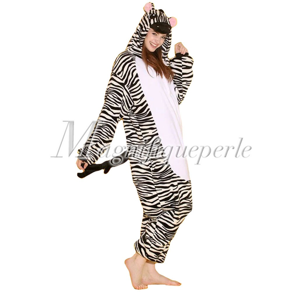 pyjama chaud kigurumi costume danimal deguisement onesi s xl homme femme hiver. Black Bedroom Furniture Sets. Home Design Ideas