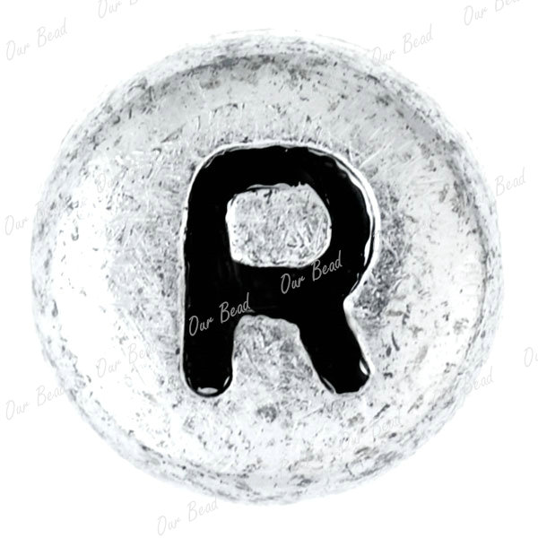90-Acrylic-Plastic-Single-Letter-A-Z-Alphabet-Beads-Flat-Round-7x7mm-Free-Ship