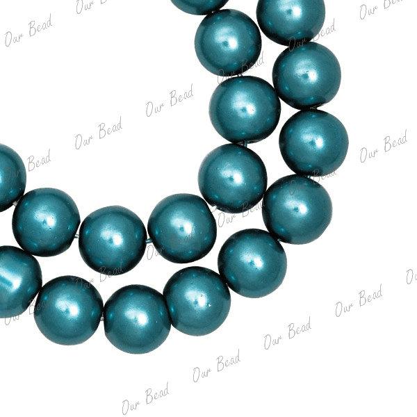 1 strand 4mm 6mm 8mm 10mm Glass Plexiglass Pearl bead 30 colour jewellery making