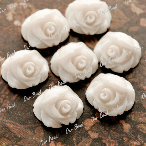 20/24pcs Wholesale Cabochons Cameo Resin Flatbacks Mini Rose Flower Lots 10x10mm