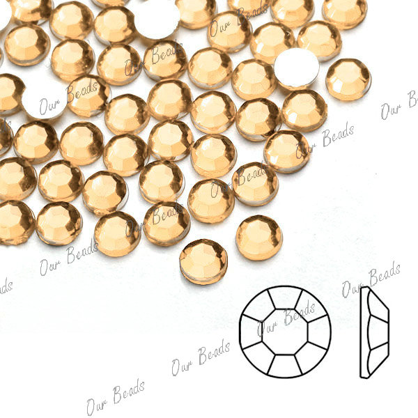 1000pcs-Acrylic-Plastic-Round-Flatback-Brown-Rhinestones-Lot-1-5mm-SS4-AF0001-10
