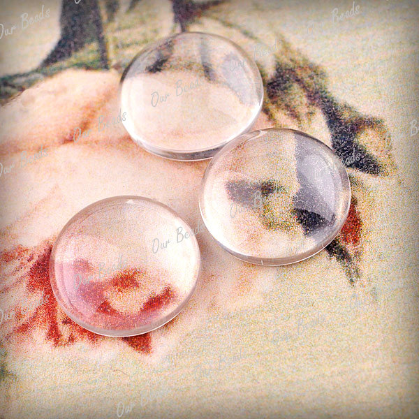 8-Wholesale-Clear-Glass-Cabochons-Flat-Round-Findings-Fit-Settings-14x14mm-GC002