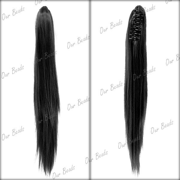 Long Lady Wowen Straight Curly Wavy Claw Clip Ponytail Pony Wigs Hair Extension