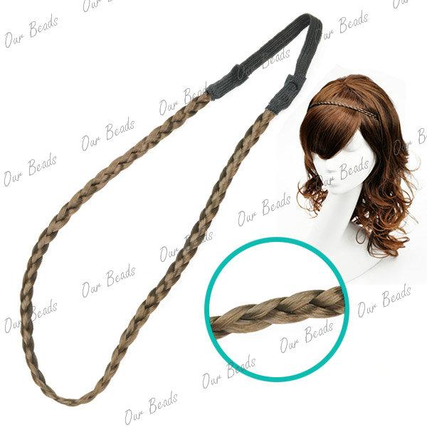Synthetic-Braided-Braids-Plaited-Plait-Hair-Head-Band-Headband-Hairband-Elastic