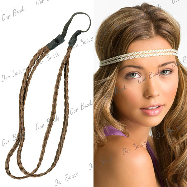 Synthetic-Braided-Braids-Plaited-Plait-Hair-Head-Band-Headband-Hairband-Elastic
