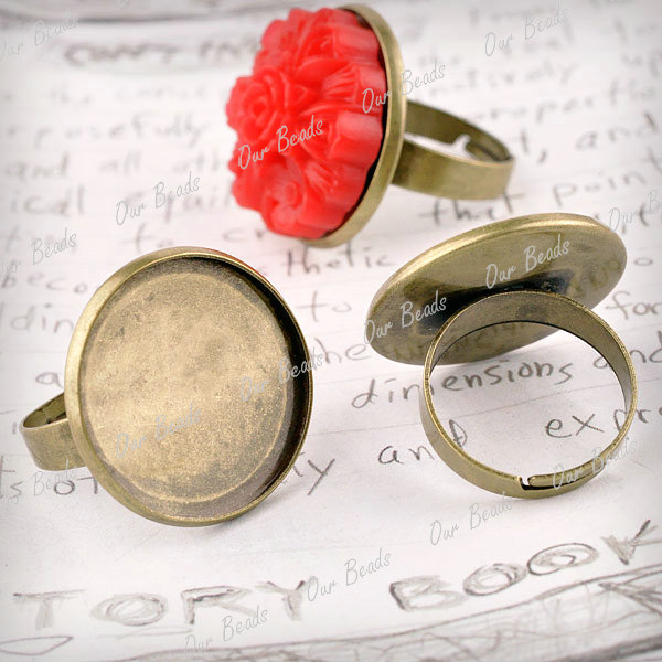 6-Antique-Brass-Round-Adjustable-Ring-Mountings-Cabochon-Setting-23x23mm-MB605-4