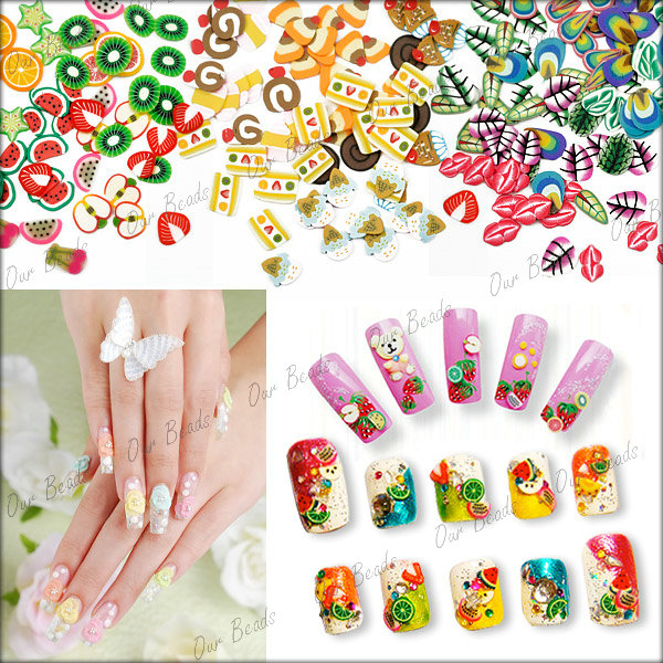 120pcs-Mixed-12-Style-Leaf-Polymer-Clay-Fimo-Slice-3D-Nail-Art-Decoration-NA0007