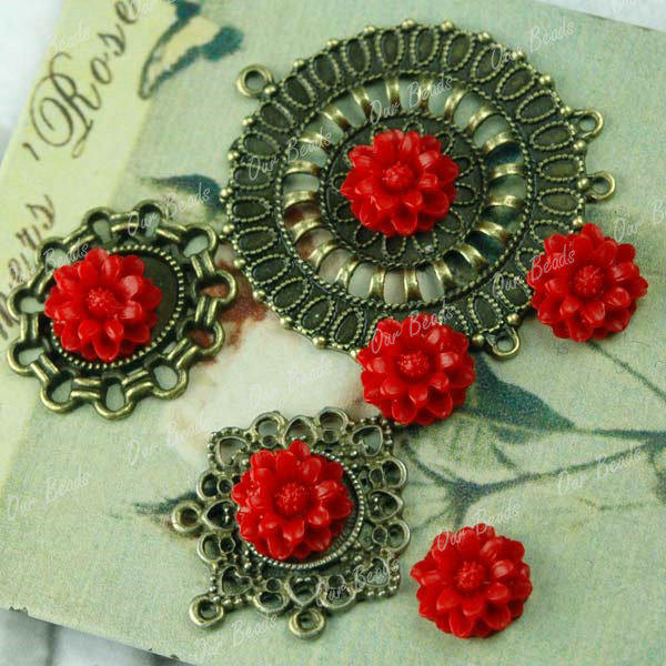 6Pcs-Red-Resin-Flower-Beautiful-Cabochon-Bead-RB0538-14