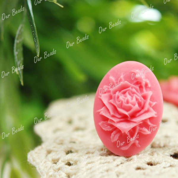 4-Pcs-Pink-Resin-Flower-Pretty-Cabochons-Beads-RB0559-5