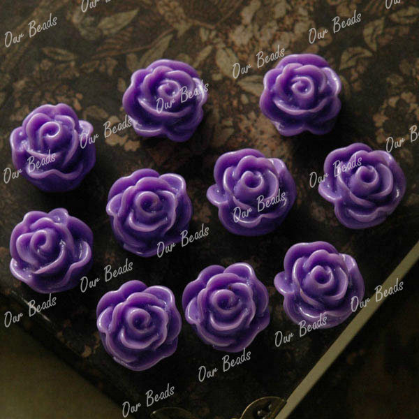 10-Pcs-Purple-Rose-Resin-Flower-Cabochon-Beads-RB0589-5