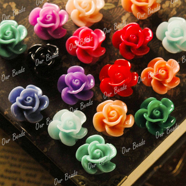 24-Mixed-Assorted-Rose-Resin-Flower-Cabochon-Bead-RB592