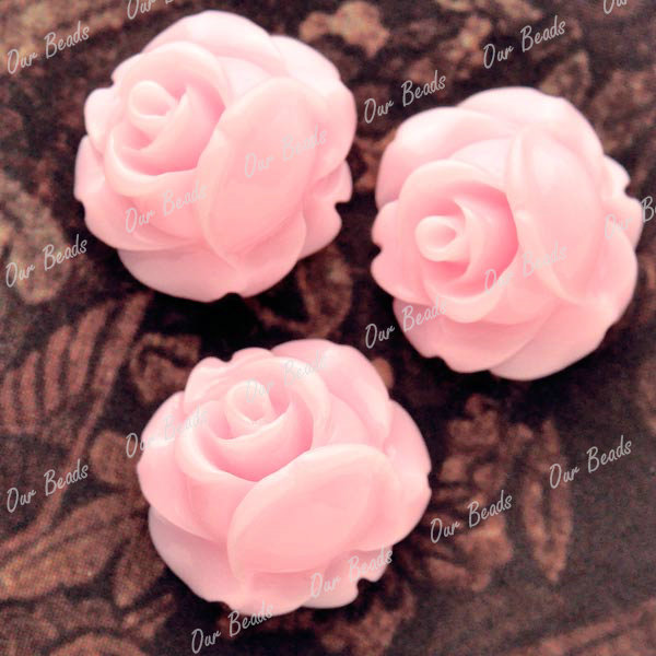20-Pink-Resin-Flower-Rose-Style-Cabochon-Bead-RB0740-12