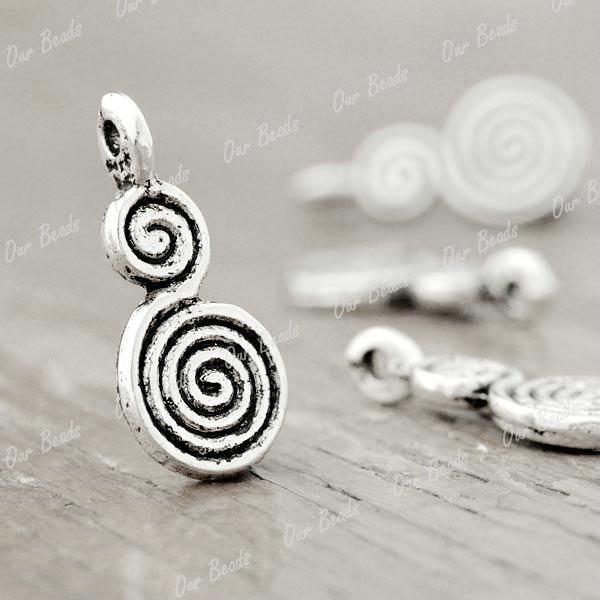 100pcs Tibetan Silver Style Gourd Charm Pendants TS0885