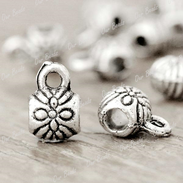 150pcs-Tibetan-Silver-Bail-Spacers-Bead-Findings-TS1167