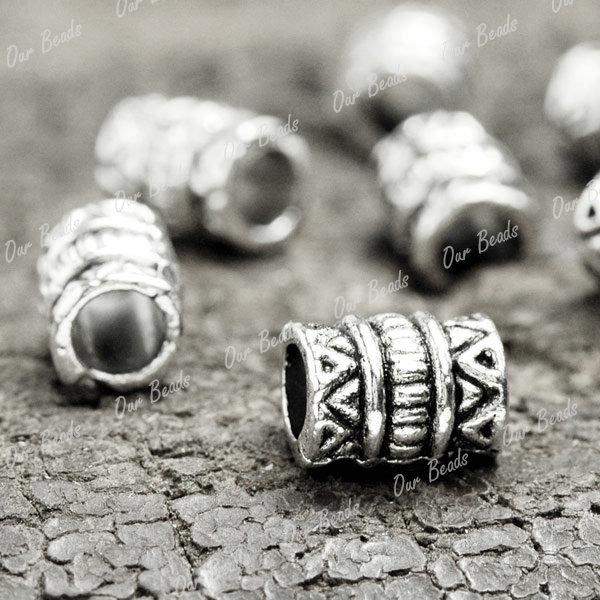 150-Tibetan-Silver-Tibet-Style-Tube-Spacers-Bead-TS1237