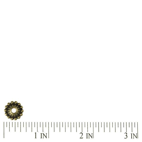 50Pcs-Antique-Bronze-Caps-Beads-Spacers-Charms-TS1337-4