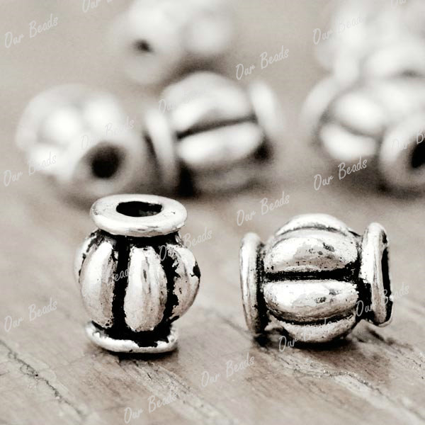 200pcs-Tibet-Style-Tibetan-Silver-Tube-Charm-Spacers-Bead-Findings-TS1642