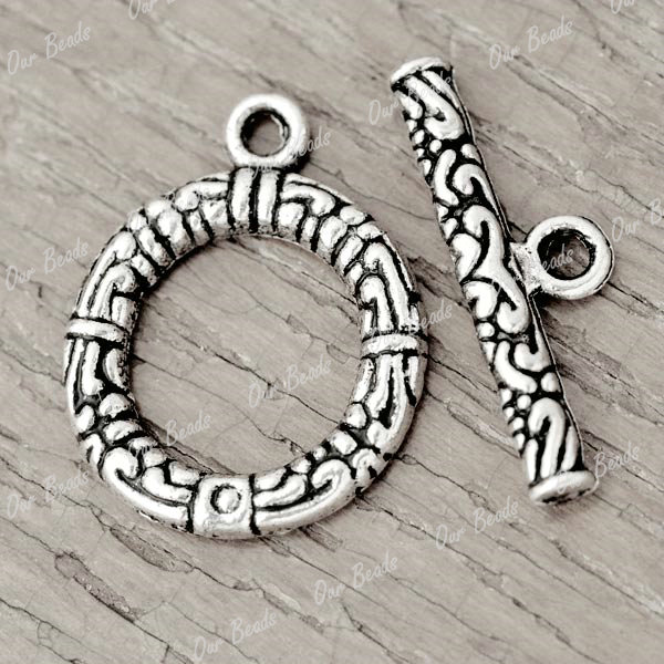 50-sets-Tibetan-Silver-Tibet-Style-Ring-Bar-Toggle-Clasps-Findings-TS2089
